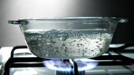Chauffage eau bouillante