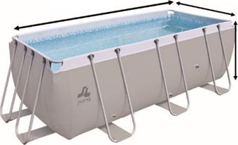 Calcul du volume d'une piscine carrée