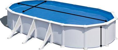 Calcul du volume d'une piscine ovale