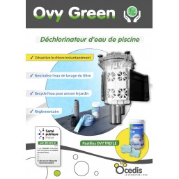 DECLORINATEUR DE L\'EAU KIT OVY GREEN - 10 Pastilles OVY TREFLE