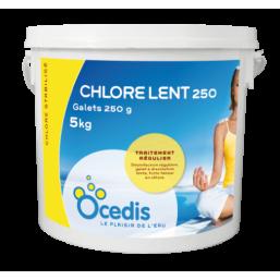 CHLORE LENT   Galet  250 5 kg