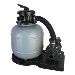 Filtre à sable avec pompe et  vanne 6 voies d\'un débit de 4m3/h (200 W)  sans préfiltre