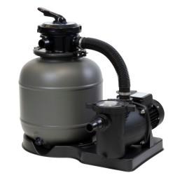 Filtre à sable avec pompe et  vanne 6 voies d\'un débit de  6m3/h (450W)  avec préfiltre