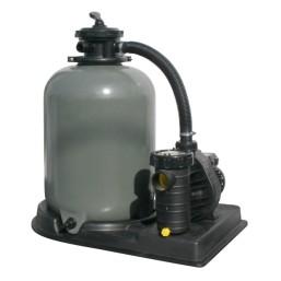 Filtre à sable avec pompe et  vanne 6 voies d\'un débit de  8m3/h avec préfiltre