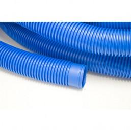 Tuyau bleu souple pour raccordement filtre à sable diam. 38 mm, rouleau de  30 m